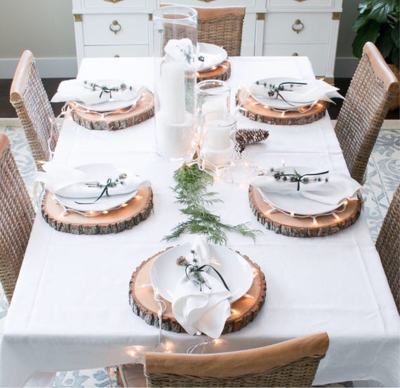 Wooden Plate Chargers