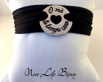 "Bracelet or Medal ""O ma ti tengu cara"" Silver 925"
