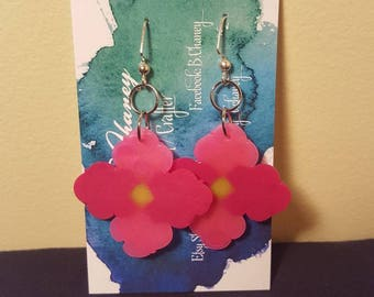 Earrings - Perlers - Flowers