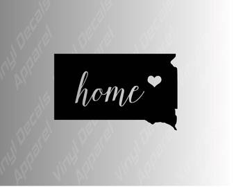 South Dakota home state die cut vinyl decal sticker for car, laptop, yeti decal, etc..