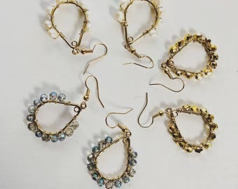 dazzle drop earrings