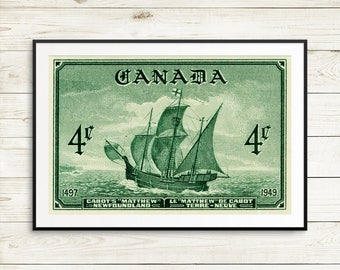 P101 Wooden ships, sailing ships, Wooden Ship Art, antique ship poster, ocean art, Canada history, history poster, antique sailing ship