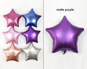 "Satin Purple Star Balloon | 18"" Star Balloons | Dreamy Decorations | Purple Party Decorations"