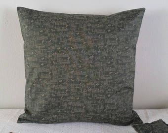Cushion cover 40 X 40, linen and cotton - unique