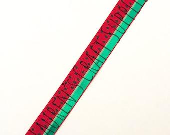 "Watermelon Ribbon | Pink Watermelon Ribbon | Red Watermelon Ribbon | Grosgrain Ribbon | Hair Bow Ribbon | US Designer Ribbon | 7/8"" Ribbon"