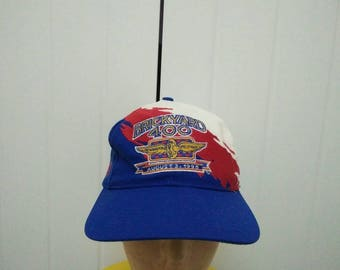 Rare Vintage BRICKYARD 400 Indianapolis Motor Speedway August 3 1996 x BUD King Of Beers Embroidered Cap Hat Free size fit