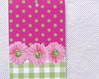 100 CLOTHING TAGS JEWELRY Tags Accessories Tags Boutique Tags Cute Pink Flowers 2 Thank You Tags Retail Tags W 100 Self-Locking Loops