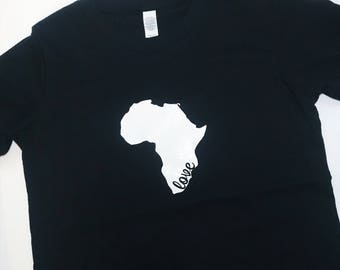 Africa Love Kids' Tee // African Pride T-Shirt // Afrocentric Kids