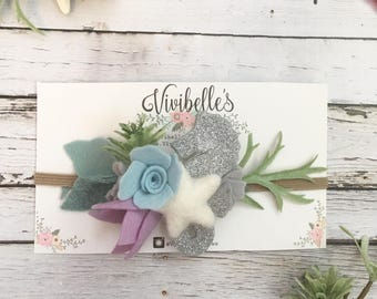Mermaid Headband, Mermaid party, Seahorse Headband, Baby Mermaid Photo prop, Mermaid headband, Starfish Headband, Mermaid baby outfit,