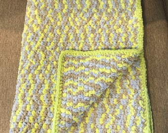 Crochet multicolored super soft baby blanket