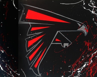 Falcons Abstract Painting
