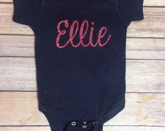 Cute baby gift etsy personalized onesie custom name onesie name onesie unisex baby clothing baby gift negle Images