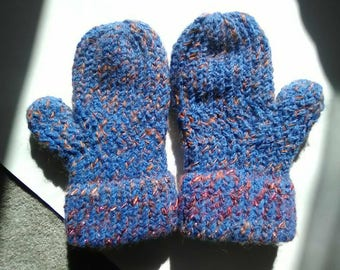 Spring Overstock Mitten Sale! Hand Knitted Fleece Lined Mittens READY TO SHIP