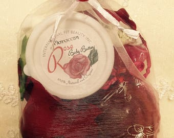 Rose Soap Moisturizer Gift Set