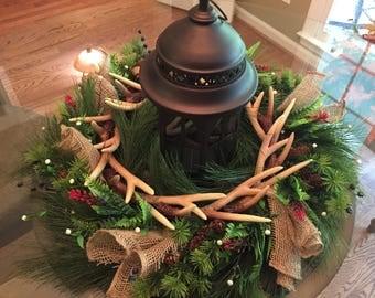 Deer Antler and Pine Centerpiece/Wreath
