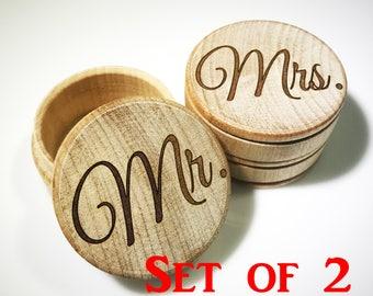 Mr Mrs, Wedding Ring Box, Ring Bearer Box, Wedding Ring Keepsake, Ring Box, Jewelry Box, Rustic Ring Box, Wedding, Wooden Trinket Box