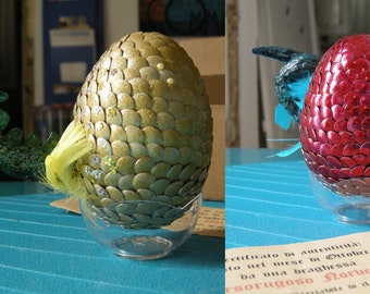 dragon eggs RED + GOLDEN egg - harry potter - sword throne - fantastic animals - Game of Thrones - Fantastic Beasts
