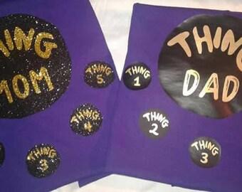 Purple Thing Mom/Thing Mom Dr Seuss shirt/ Thing Mom/Mom of all things / Dr Seuss/Thing Mom of things 1,2,3,and 4/