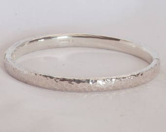 Heavyweight Solid Sterling Silver Hinged Bangle