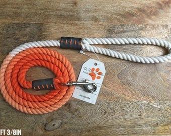 Orange Ombré Rope Leash