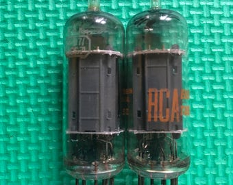 Matched Pair RCA 6CG7 / 6FQ7 Tubes