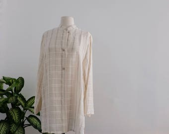 long white vintage blouse
