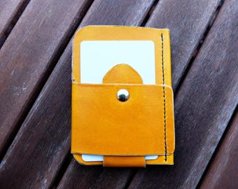 Minimalist wallet, front pocket wallet, leather wallet, card wallet, slim wallet, hand-stitched, hand-dyed, EDC wallet
