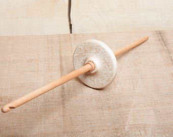 Akha Spindle | Drop Spindle | Mid Whorl | Light Weight Spindle | Maple and Pear
