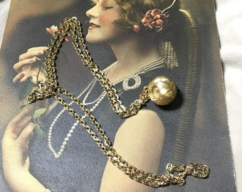 Vintage Swiss Orb/Ball Watch Pendant Necklace