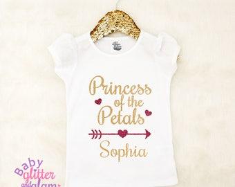 Princess of the Petals, Petal Princess, Flower Girl Shirt, Girl Wedding Shirt, Flower Girl Rehearsal Shirt, Flower Girl Outfit