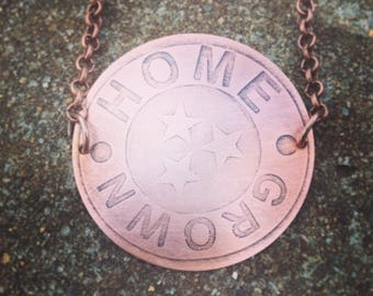 Home Grown copper necklace