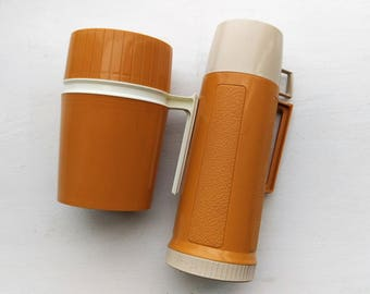 Vintage Thermos Lot of 2 7002 22F 22A63 722 Clean Useable