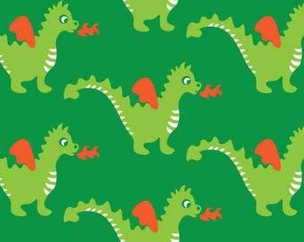 Dragons - Znok patterns green Jersey