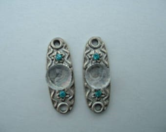 2 CONNECTORS TRIBAL 27 MM - CRYSTAL PATTERN