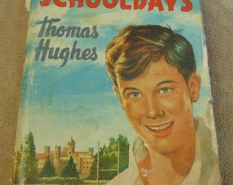 1950s Thomas Hughes Tom Browns School Days Vintage Book 50s childhood retro child's book