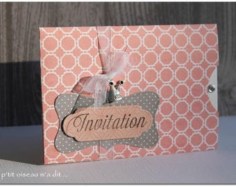 Secret pocket Princess baptism invitation