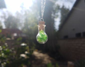 Authentic Green Seaglass Necklace