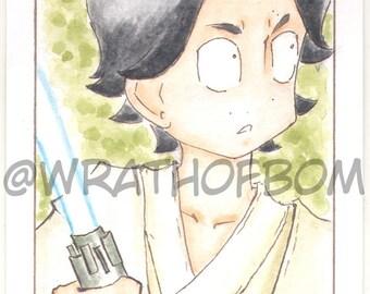 Star Wars: The Last Jedi Kylo Ren Ben Solo Fan Art Sketch Card 2