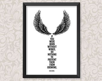 Wings by Coco Chanel (A4) print