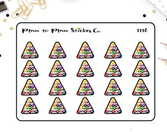 1116~~Billiard Pool Balls Planner Stickers.