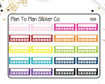 1268~~Weekly Habit Tracker Planner Stickers.