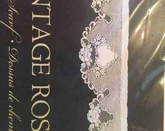 Vintage Rose Matle Scarf Ecru