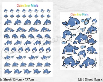 WHALE Planner Stickers (2 options)