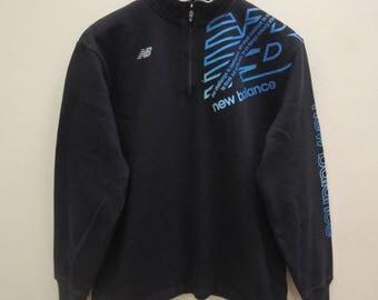 Vintage New Balance Sweatshirt Half Zipper Sportwear Street Wear Swag Sweater Size L