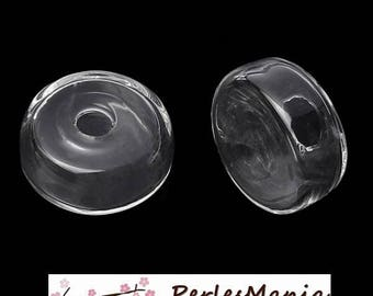1 globe ball hollow cabochon in flat glass on both sides 22 mm