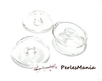 1 globe ball hollow fill clear glass cabochon 25 mm