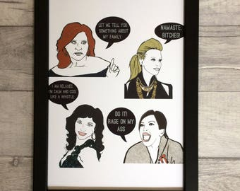 Jersey Girls- Real Housewives of New Jersey inspired Illustration/Art Print