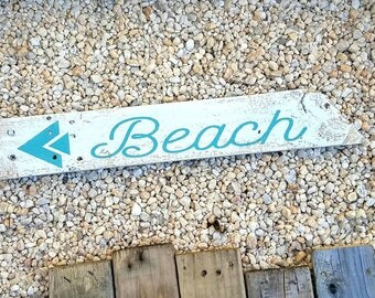 Rustic Beach Sign, Summer Decor, Summer Sign, Beach Home Decor