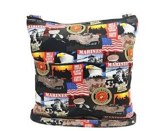 20% OFF SALE Marines Crossbody Bag // Sling Bag // Crossbody Purse // Shoulder Bag // Hipster // Marines ARMY Navy Air Force
