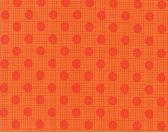"Moda ""Wing & Leaf"" by Gina Martin ~ Tonal Dots ~ Persimmon 10067 18 ~ By The Half Yard ~"